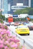 Singapore: Elektronische Weg Tarifering stock foto