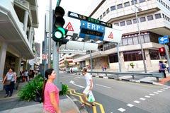 Singapore: Elektronische Weg Tarifering stock afbeelding