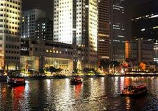 Singapore embankment Stock Photo