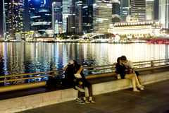 Singapore embankment Royalty Free Stock Images