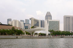 Singapore embankment Royalty Free Stock Photos