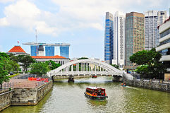 Singapore embankment Stock Photo