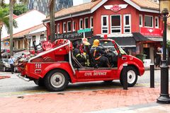 Singapore :Emergency service Fire truck Stock Photography