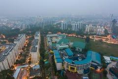 Singapore environmental haze situation Royalty Free Stock Image