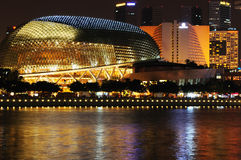 Singapore esplanade. Theater at night Royalty Free Stock Photo