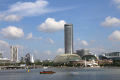 Singapore Esplanade with Blue Sky Royalty Free Stock Photos