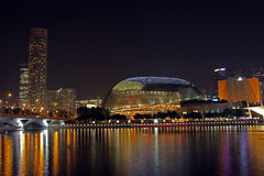 Singapore Esplanade at night Royalty Free Stock Image