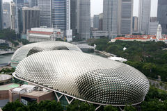 Singapore Esplanade Theater. Airscape of Singapore Esplanade Theater Stock Image
