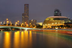 Singapore Esplanade Theater at night Royalty Free Stock Photography
