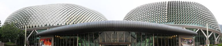 Singapore Esplanade Theatre - panorama Royalty Free Stock Photos