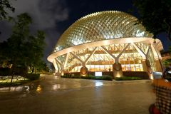 Singapore : Esplanade theatres on the bay. Esplanade Theatres on the Bay, on the waterfront of Singapores MArina Bay, purpose built as a concert hall and theatre Stock Photo