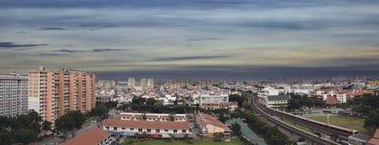 Singapore Eunos Housing Estate Panorama. Singapore Eunos Housing Estate by the MRT Train Station Panorama Stock Image