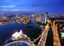 Singapore at evening Royalty Free Stock Photography