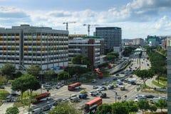SINGAPORE-27 FÖRDÄRVAR för šSingaporeubi för ¼ 2017ï sikt för zon för bransch för område flyg- royaltyfri fotografi