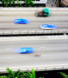 Singapore fast traffic Stock Photography