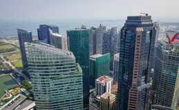 Modern buildings in Singapore royalty free stock photography