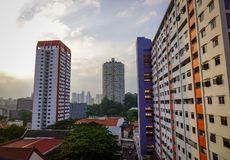 Modern buildings in Singapore stock images