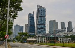 Modern buildings in Singapore stock photo