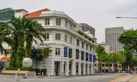 Old buildings in Singapore stock images