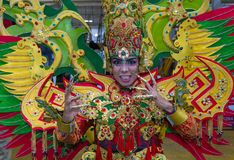 2018 Chingay parade. SINGAPORE - FEB 24 : Participant in the Chingay parade in Singapore on February 24 2018. The Chingay is an annual street parade and it is Stock Images