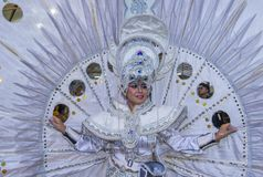 2018 Chingay parade. SINGAPORE - FEB 24 : Participant in the Chingay parade in Singapore on February 24 2018. The Chingay is an annual street parade and it is Royalty Free Stock Photos