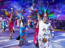 2018 Chingay parade. SINGAPORE - FEB 24 : Participants in the Chingay parade in Singapore on February 24 2018. The Chingay is an annual street parade and it is Royalty Free Stock Images