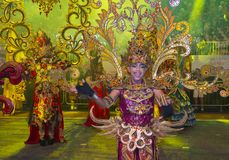 2018 Chingay parade. SINGAPORE - FEB 24 : Participants in the Chingay parade in Singapore on February 24 2018. The Chingay is an annual street parade and it is Stock Photo