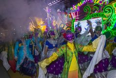2018 Chingay parade. SINGAPORE - FEB 24 : Participants in the Chingay parade in Singapore on February 24 2018. The Chingay is an annual street parade and it is Royalty Free Stock Photography