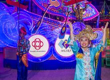 2018 Chingay parade. SINGAPORE - FEB 24 : Participants in the Chingay parade in Singapore on February 24 2018. The Chingay is an annual street parade and it is Stock Images