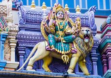 Sri Veeramakaliamman temple. SINGAPORE - FEB 24 : Statue in Sri Veeramakaliamman temple in Little India, Singapore on February 24 2018 It is one of the oldest Royalty Free Stock Images