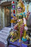 Sri Veeramakaliamman temple. SINGAPORE - FEB 24 : Statue in Sri Veeramakaliamman temple in Little India, Singapore on February 24 2018 It is one of the oldest Royalty Free Stock Photos