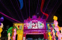 Singapore 2018 River Hongbao. SINGAPORE - FEB 21 : The Year of the Dog Celebration lanterns at River Hongbao in Singapore on Februery 21 2018. The event is held Stock Photo