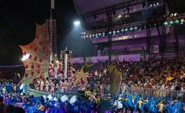 SINGAPORE - 3 FEBBRAIO: Festival 2012 di Chingay a Singapore sulla F Fotografie Stock Libere da Diritti
