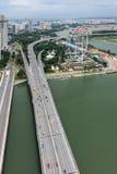 SINGAPORE - FEBRUARI 3: Sikt av motorwaysystemet i Singapor Royaltyfria Foton