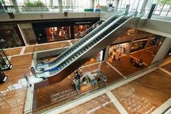 Singapore. Winkelcentrum bij de Toevlucht van het Zand van de Baai van de Jachthaven Royalty-vrije Stock Afbeeldingen