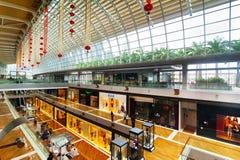 Singapore. Winkelcentrum bij het Zand Onderzoek van de Baai van de Jachthaven Royalty-vrije Stock Afbeeldingen