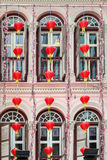 SINGAPORE - FEBRUARY 3 : Chinese lanterns outside a building in Stock Image