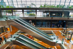 Singapore. Shopping center at Marina Bay Sands Res Royalty Free Stock Photo