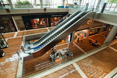 Singapore. Shopping center at Marina Bay Sands Resort Royalty Free Stock Images