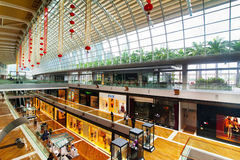 Singapore. Shopping center at Marina Bay Sands Res Royalty Free Stock Images