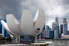 SINGAPORE - FEBRUARY 3 : View of the Art Science Museum in Singa Stock Image