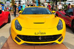 Singapore Ferrari Club Owners showcasing their Ferrari cars during Singapore Yacht Show at One Degree 15 Marina Club Sentosa Cove Royalty Free Stock Image