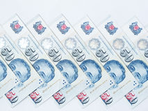 Singapore fifty dollar notes Stock Images
