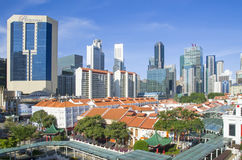 Singapore Financial and Chinatown District Stock Photos