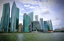 Singapore Financial District Royalty Free Stock Image