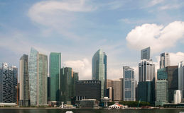 Singapore Financial District. Financial and commercial district of Singapore Royalty Free Stock Photo