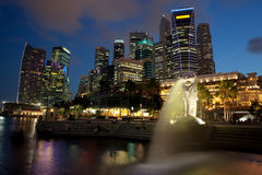 Singapore Financial District at Dusk Royalty Free Stock Photo