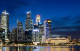 Singapore Financial District Early Evening royalty free stock images