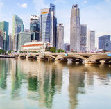 Singapore financial district Royalty Free Stock Images