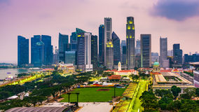 Singapore Financial District Stock Images